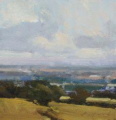 "Valley Views by Simon Addyman Oil ~ 8"" x 8"""