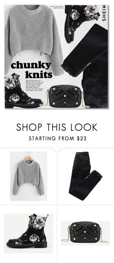 """""""Get Cozy: Chunky Knits"""" by svijetlana ❤ liked on Polyvore featuring Pierre Balmain, chunkyknits and shein"""
