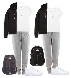 """""""twins"""" by kingrabia on Polyvore featuring Monki, NIKE, H&M, The North Face and Michael Kors"""