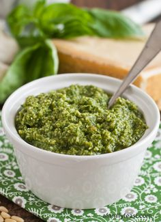 The absolutely best pesto recipe - made with basil, extra virgin olive oil, parmesan and romano cheeses, and garlic.