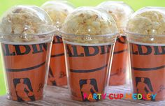 Basketball Party Cups-Popcorn Box-Set of 8 on Etsy, $12.40