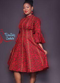 With velvet lines African Fashion Ankara, Latest African Fashion Dresses, African Print Fashion, Africa Fashion, African Party Dresses, Short African Dresses, African Print Dresses, African Print Jumpsuit, African Attire
