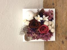 Autumn preserved flower flame arrangement I made.