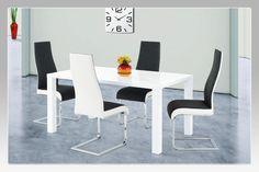 Stůl AT-1008 WT a židle AC-1817 BKW2