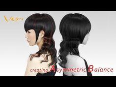 How to cut angled Bangs/wavy long women haircut? Design by Cherry,韓系波浪長捲女髮型設計Vern Hairstyles 17 - YouTube