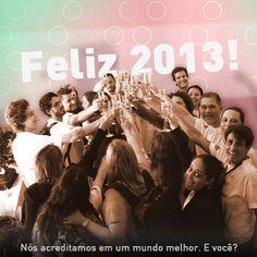 A equipe do Social Good Brasil deseja um ótimo 2013!
