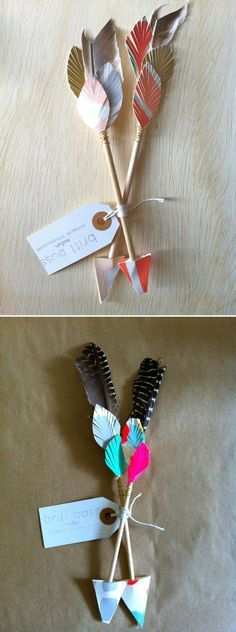 Brittany Bass Cupid's Chokehold - Shot through the heart, with this super cutiful art – perfect place setting for a wedding! Indian Birthday Parties, Indian Party, Diy And Crafts, Crafts For Kids, Paper Crafts, Tribal Theme, Wild West Party, Indian Crafts, Camping Crafts