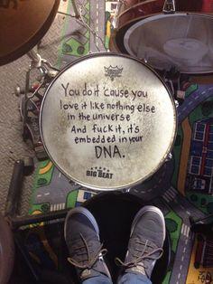 Some watsky lyrics tatted onto the head✌️