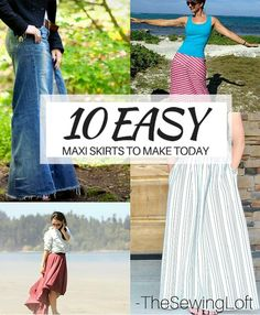 Update your closet with a few of these easy to make maxi skirt DIY patterns. Perfect fashion idea for summer.