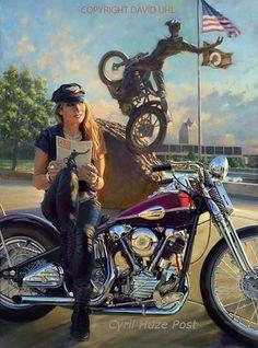 "harley davidson art | Harley-Davidson 110th Commemorative Painting. ""Origins"" by David ..."