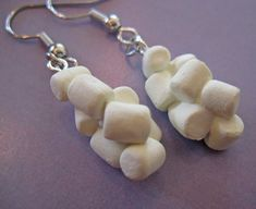 marshmallow earrings, now there is a pair of earrings for you! problem is, you would eat them!