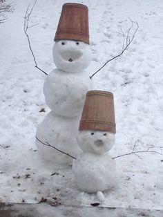 Snow people. January 2014
