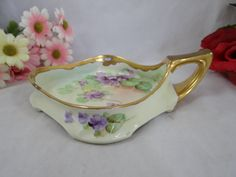 19101912  Pickard USA Hand Painted Violets by SecondWindShop, $85.00