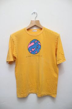 Vintage 24HOUR TELEVISION Chari-T Shirts Yellow Color Size L by…