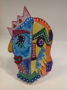 Cubist heads Harrop Fold