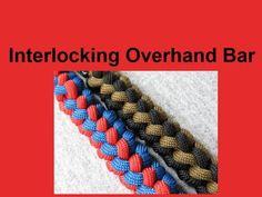 How to make an Interlocking Overhand Bar Paracord Bracelet Tutorial (Par...