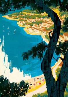 St. Tropez Postcard 5 by Patrick  Leger