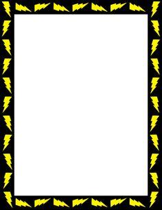 lightning page border free downloads httppagebordersorgdownload