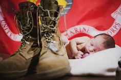 marine corps, newborn photography, boots