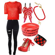 """Party-Punk red & black set ( Advancement Party Collection """"Up All Night With Style"""""""