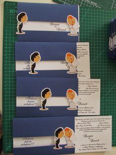 Creative Wedding Invitations, Rustic Invitations, Wedding Invitation Cards, Wedding Cards Handmade, Diy Wedding, Wedding Bride, Diy Gifts For Him, Paper Crafts Origami, Wedding Card Design