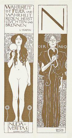 Gustav Klimt nuda veritas - Google Search