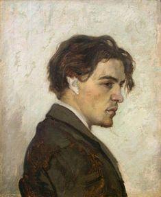 Portrait of Anton Chekhov by his brother Nikolay Chekhov.