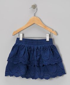 Take a look at this Navy Eyelet Skirt - Toddler & Girls by Trish Scully Child on #zulily today!