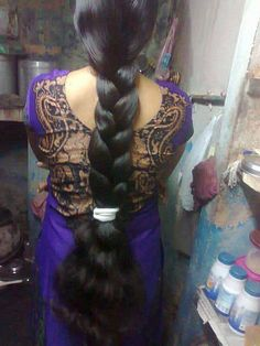 Beautiful long braids | indian braided hair | Flickr