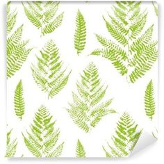 Seamless pattern with paint prints of fern leaves Pixerstick Wallpaper ✓ Easy Installation ✓ 365 Day Money Back Guarantee ✓ Browse other patterns from this collection! Adobe, Leaf Texture, Tropical Leaves, Ferns, Cactus Plants, Royalty Free Images, Plant Leaves, Tapestry, Stock Photos