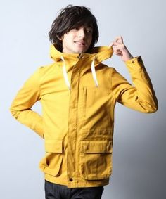Bright color parka / ShopStyle: HAREマウンテンパーカー