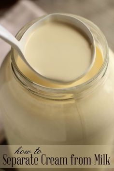Learn how to easily separate cream from fresh milk, no fancy machines required! Learn how to easily separate cream from fresh milk, no fancy machines required! Goat Milk Recipes, No Dairy Recipes, Cheese Recipes, Real Food Recipes, Cooking Recipes, Cheese Dips, Dip Recipes, Cooking Tips, Recipies