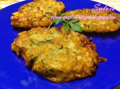 Cukkinis tócsni | | Sylvia Gasztro Angyal Tandoori Chicken, Mac, Ethnic Recipes, Food, Eten, Meals, March, Poppy, Diet