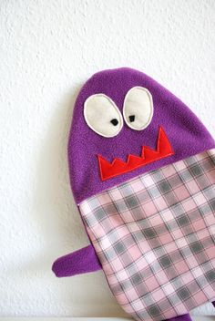 Hot water bottle cover Alfred by HappyMonstersLand on Etsy, $26.00