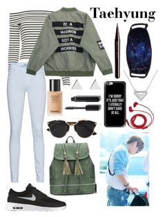"""""""Airport Fashion; Taehyung"""" by got7-bangtan-style ❤ liked on Polyvore featuring FOSSIL, 10 Crosby Derek Lam, 7 For All Mankind, NIKE, Chicnova Fashion, Casetify, Christian Dior, Jennifer Meyer Jewelry, Chanel and Marc Jacobs"""