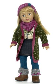 "Madame Alexander 18"" Favorite Friends dolls (with the Alexander Girlz Face Molds) ""Sweater Dressing"""