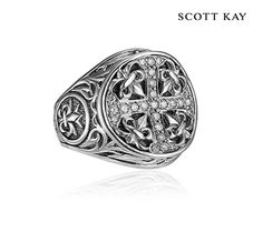 Scott Kay's Faith Collection - Ladies Sterling Silver Ring with a Filigree…