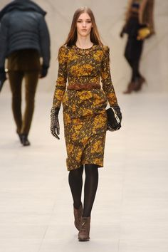 Floral dress- deliciously retro feel from Burberry Fall 2012