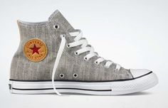 Converse Chuck Taylor All-Star Hi Chambray - The Shoe Buff - Men's Contemporary Shoes and Footwear Moda Converse, Converse Sneakers, High Top Sneakers, Mode Shoes, Men's Shoes, Shoe Boots, Converse Chuck Taylor All Star, Converse All Star, Man Style
