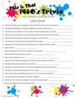 Retro 80's trivia game - for the adults who stay for the fun of it! Birthday games.
