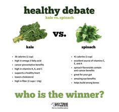 Which is Healthier: Spinach or Kale? #healthydebate