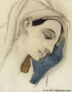 Schjerfbeck, Helene Virgin Mary, after El Greco, 1942
