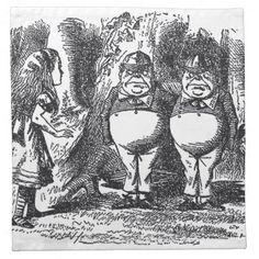 Alice in Wonderland Cloth Napkins #AliceinWonderland #Napkin