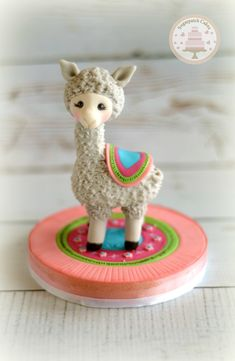 Llama cake topper for baby shower or kids birthdays www.etsy.com/shop/sugarpatchtoppers