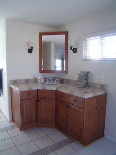 Images On D Corner Bath Vanity in Ivory with Granite Vanity Top in Grey Corner vanity Granite vanity tops and Ba u