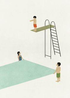As ilustrações minimalistas e surrealistas de Alessandro Gottardo