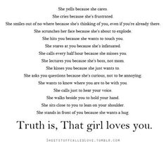 That girl loves you
