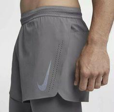 MNS Nike Distance 2 in 1 Run Shorts Sz L Gunsmoke for sale online Sport Fashion, Mens Fashion, Mens Athletic Fashion, Running Fashion, Nike Running Shirt, Mens Running Shorts, Running Shoes, Sport Shorts, Men's Shorts