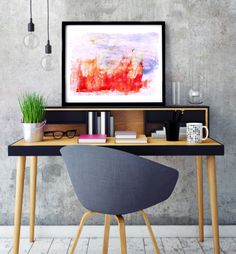 """Poster """"Fiery landscape"""", Beautiful poster, Housewarming Gift, Beautiful Poster, Interior Decoration, Abstract Poster, Fire by MerryGallery on Etsy Spring Landscape, Beautiful Posters, True Love, House Warming, Interior Decorating, Abstract, Trending Outfits, Decoration, Handmade Gifts"""