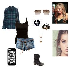 """""""Fanfic"""" by kristal01-798 ❤ liked on Polyvore featuring beauty, Equipment, H&M, Steve Madden, MANGO, Gag & Lou and Bee Charming"""